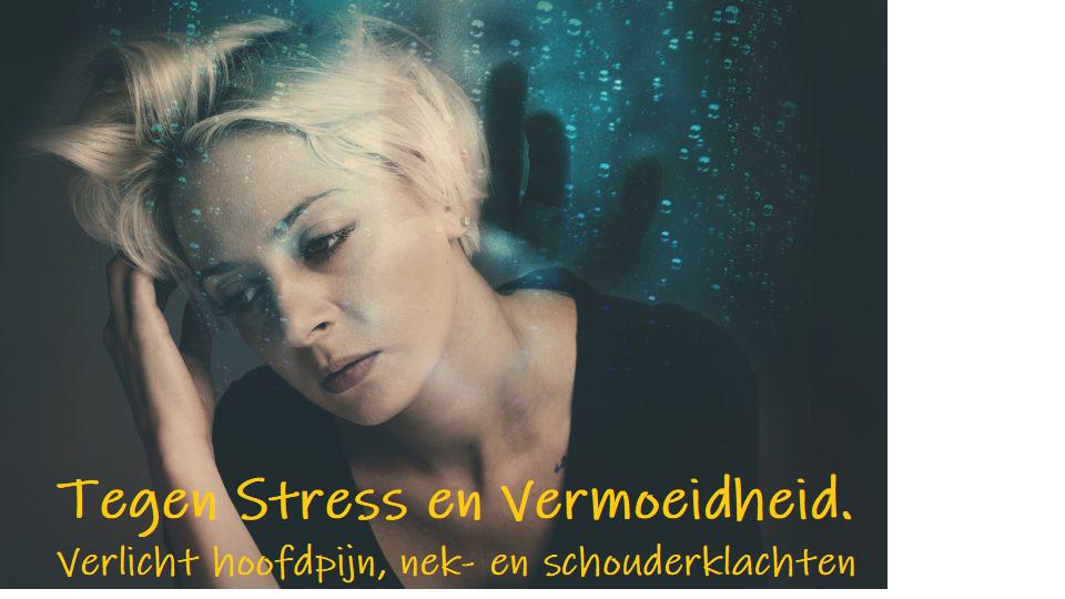 Verlicht hoofdpijn nek- en schouderklachten. Vermindert Stress en Vermoeidheid